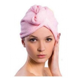 Bonnet Séchant Microfibre - Rose