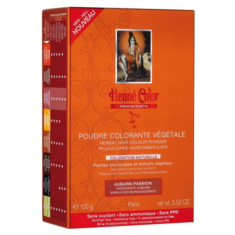 Poudre Colorante Auburn Passion Prenium Végétal - 100gr poudre