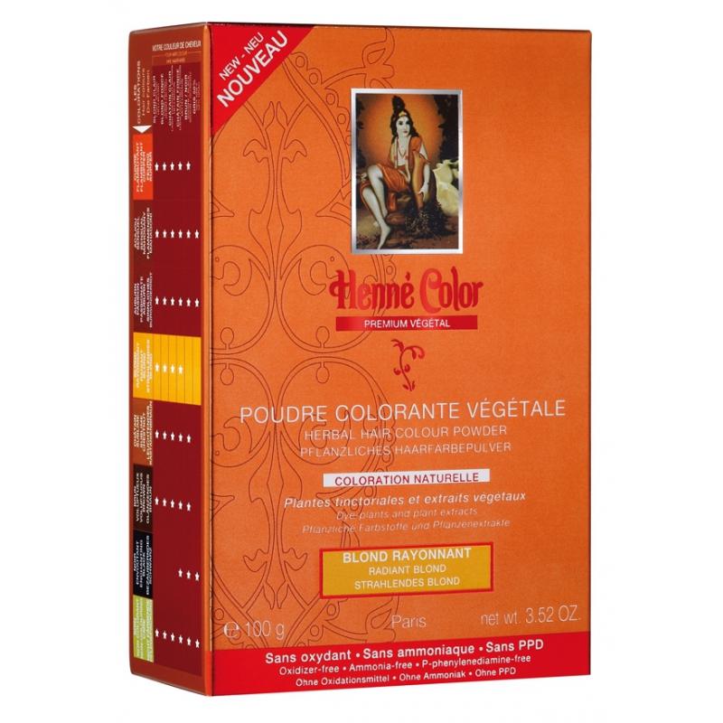 Poudre Colorante Blond Rayonnant Prenium Végétal - 100gr poudre