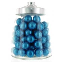 100 Perles de Bain parfum Vétiver avec Bocal en verre forme bonbonnière