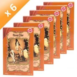 Lot de 6 Henné Cuivre Henné Color - 100gr poudre