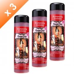 Lot de 3 Shampoings Henné Acajou - 250ml