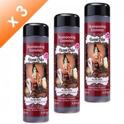 Lot de 3 Shampoings Henné Auburn - 250ml