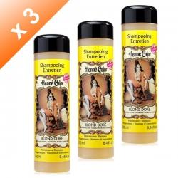 Lot de 3 Shampoings Henné Blond doré - 250ml