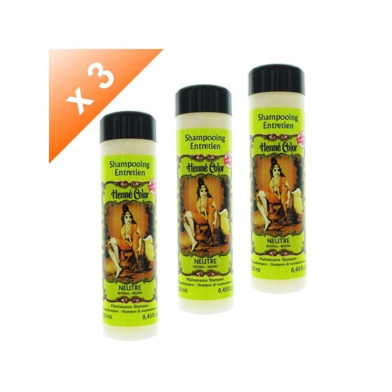 Lot de 3 Shampoings Henné Neutre - 250ml