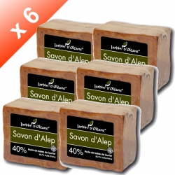 Lot de 6 Savons d'Alep 40% baies de laurier - 180gr