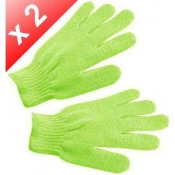 Lot de 2 Gants de gommage - Vert