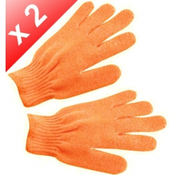 Lot de 2 Gants de gommage - Orange