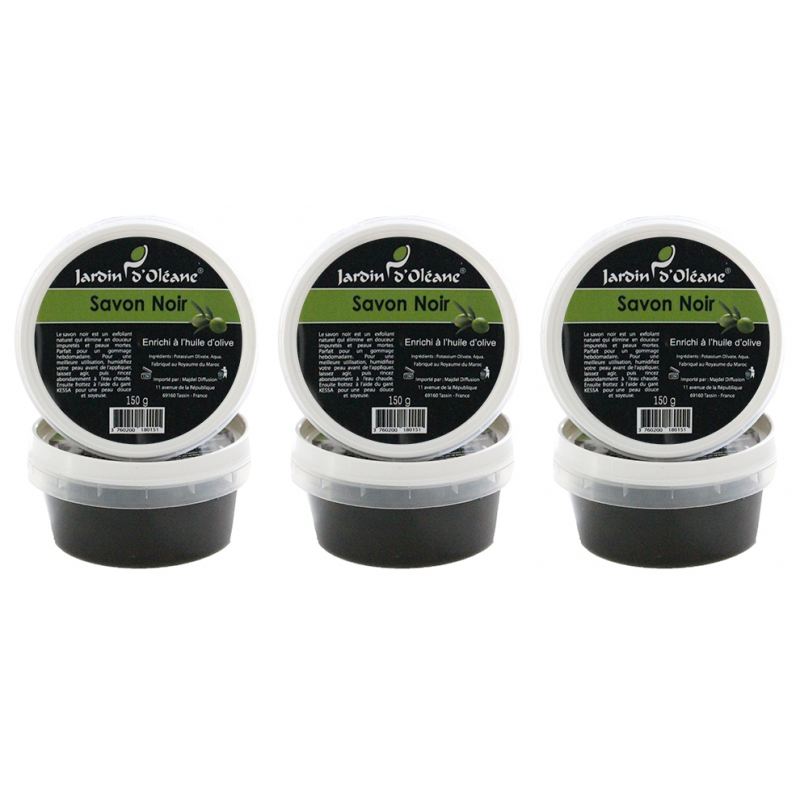 Lot de 3 Savon Noir pure olive - 150g