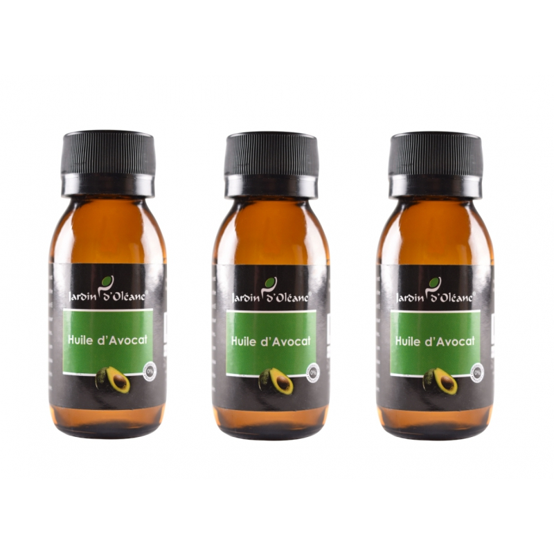 Lot de 3 Huile Pure d'Avocat 60 ML