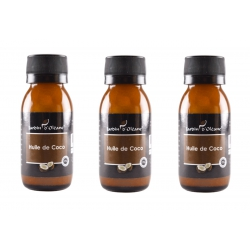 Lot de 3 Huile Pure de Coco 60 ML