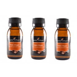 Lot de 3 Huile Pure d'Argan 60 ML