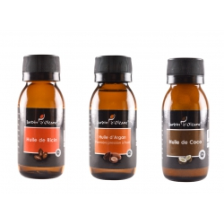Lot 3 Huile Pure Ricin/Argan/Coco 60 ML