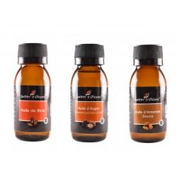 Lot 3 Huile Pure Ricin/Argan/Amande Douce