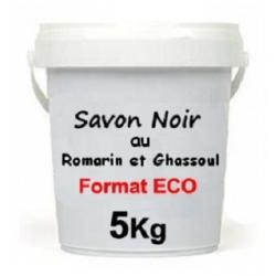 Savon Noir au Romarin et Ghassoul 5 KG
