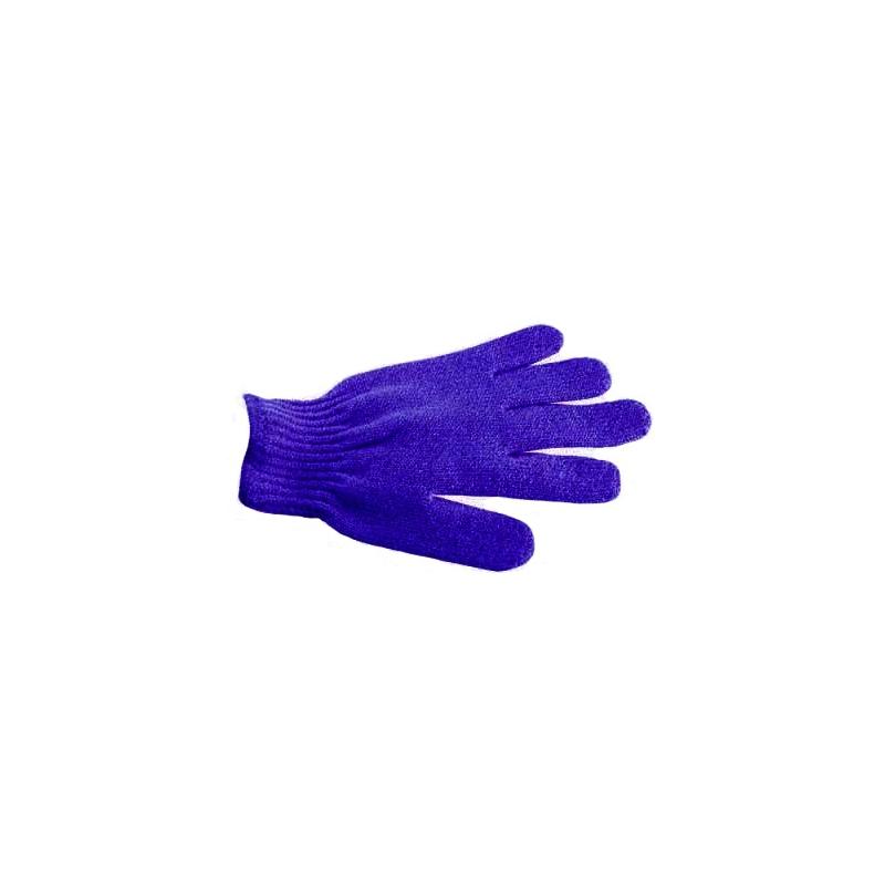 Gant de gommage 5 doigts - Bleu Foncé