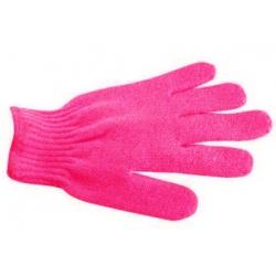 Gant de gommage 5 doigts - Rose Foncé